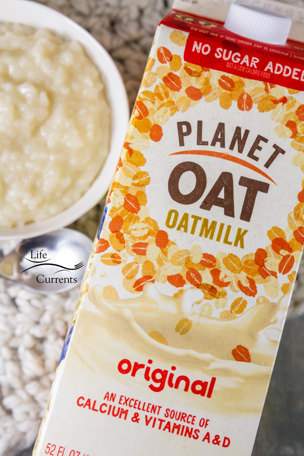 Try oatmilk in recipes, like my Easy Rice Pudding!