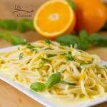 Orange Basil Cream Sauce – fresh and summery to remind you that spring is close, and summer isn't far away