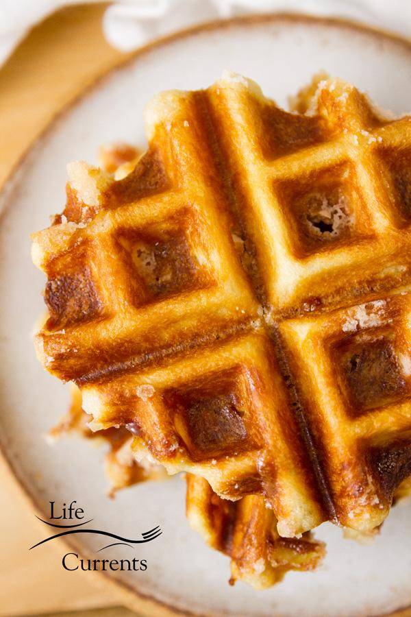 Belgian Liège Waffles Recipe- you'll love these sweet dessert treats
