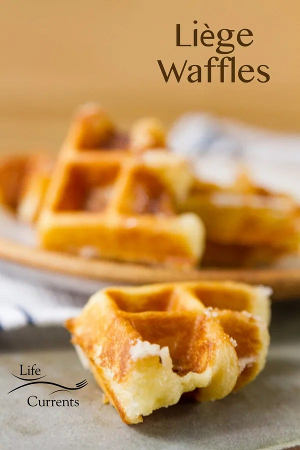 Belgian Liège Waffles - Crispy sweet waffles, filled with pockets of melted pearl sugar. These dessert treats are amazing!