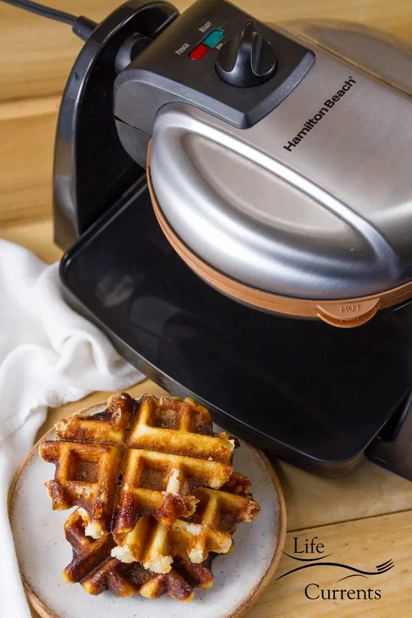 Belgian Liège Waffles and Hamilton Beach Removable Grid Belgian Waffle Maker