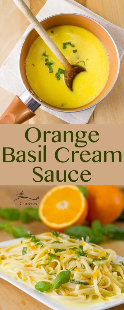 Orange Basil Cream Sauce Recipe