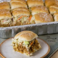Pulled Pork Sliders with Ranch Coleslaw