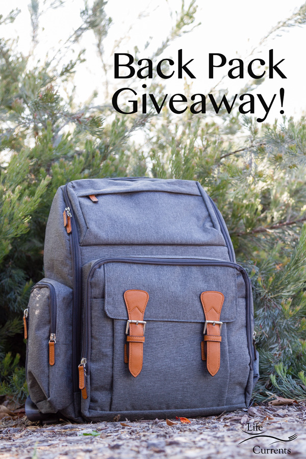 Multifunction Travel Back Pack Giveaway on Orange Marmalade Bread with Maple Icing