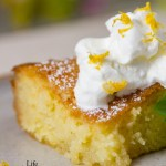 This delicious lemon poke cake is super moist and packed full of lemon flavor! This cake is a great sweet treat!