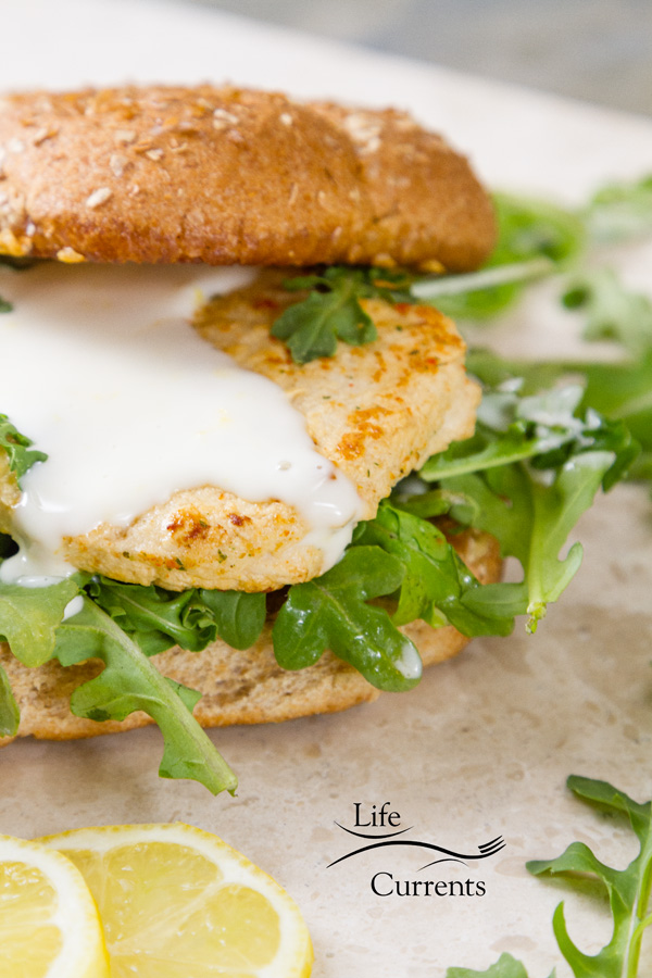 Chicken Scaloppini Sandwich with lemon aioli recipe Celebrate Earth Day with Spring Meatless Monday Plant-based Recipes