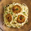 Blackened Shrimp Pasta Cajun shrimp over a creamy cheese sauce