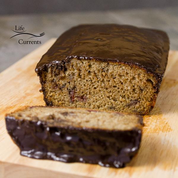 Cherry Bread with Dark Chocolate Glaze Recipe