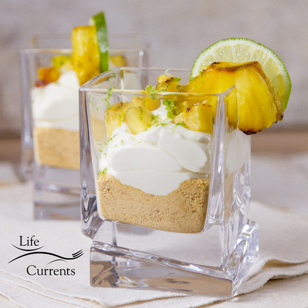 Key Lime and Grilled Pineapple Parfaits the perfect no bake dessert to refresh and cool off