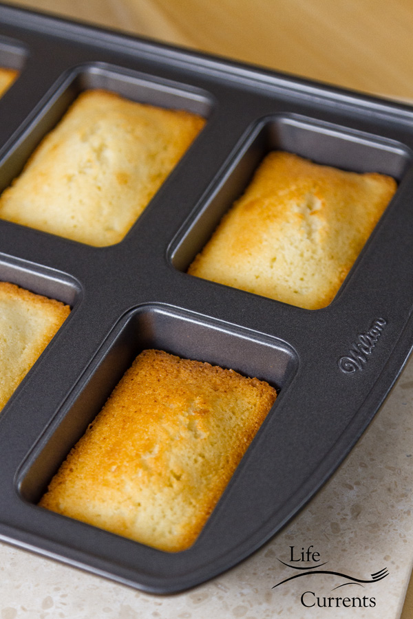 Financiers (French Almond Cakes) in a dark gray Financier cake pan