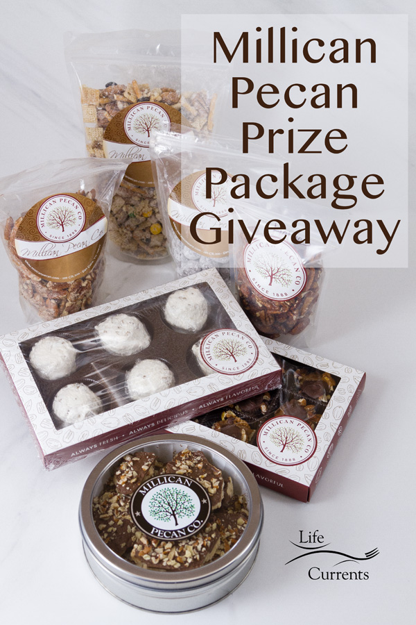 Millican Pecan Snack Mix Prize Package Giveaway announcement image