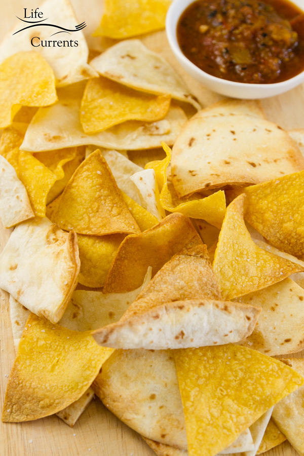 Mexican tortilla chips served with salsa