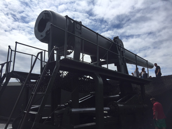 One of a pair of rare 10-inch disappearing guns at Fort Casey