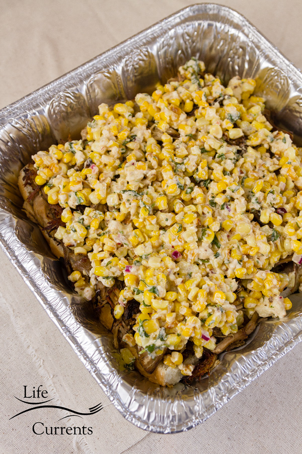 Carnitas Sliders: top the carnitas with Mexican Street Corn esquites
