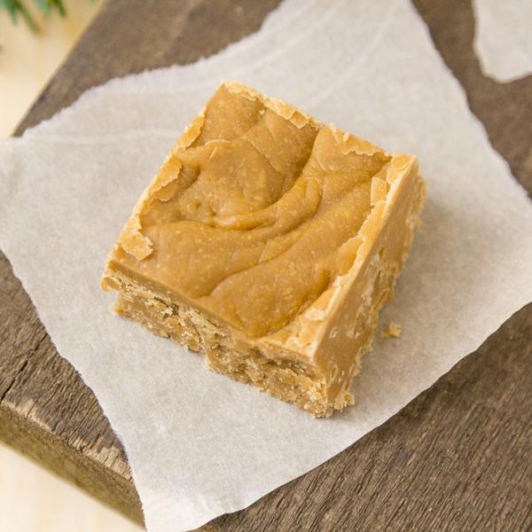 square crop of a single piece of Brown Sugar Fudge