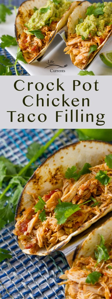 Two images of tacos in a long pin for Pinterest