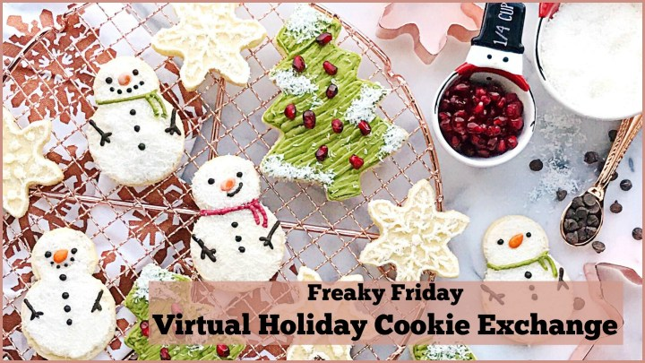 Freaky Friday blog hop banner with cookies images