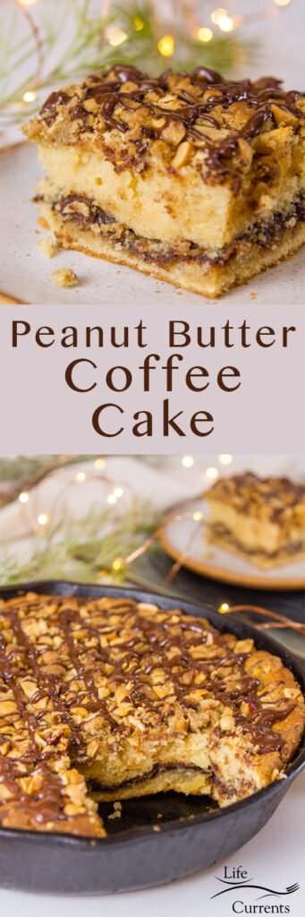 long pin for Pinterest Peanut Butter Coffee Cake