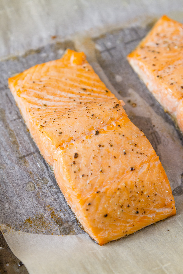 roasted salmon to be used in Roasted Salmon Risotto