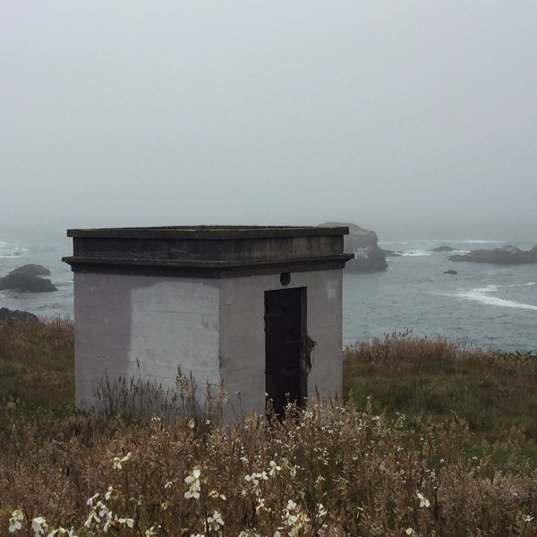 This is a dynamite bunker where the lumber company that built the railroad stored the dynamite at Glass Beach