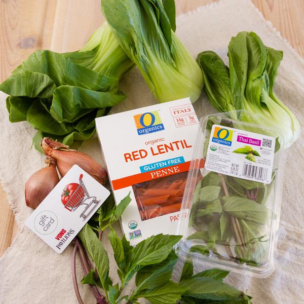 Ingredients to make Thai Basil Pasta
