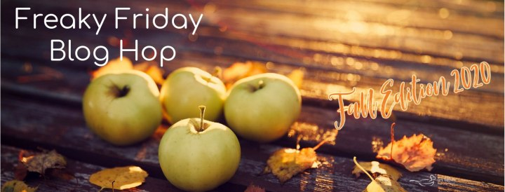 Freaky Friday Blog Hop banner with apples and leaves