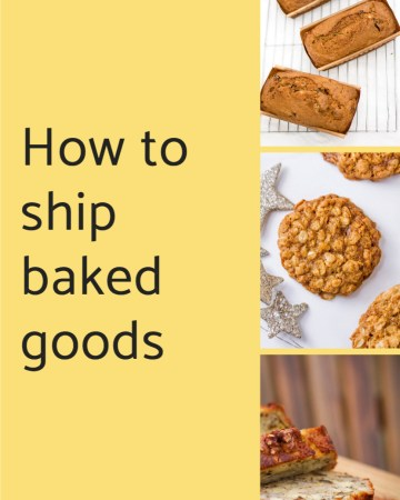 How to ship baked goods collage