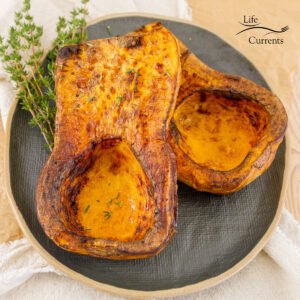 square crop of cooked butternut squash