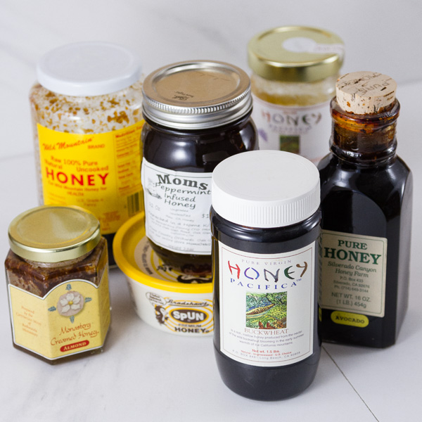 my honey collection - several jars of honey