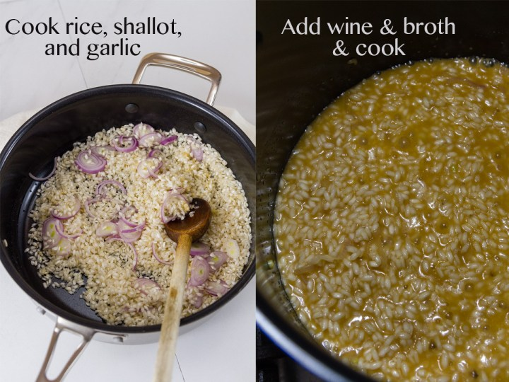 process shots for how to make risotto