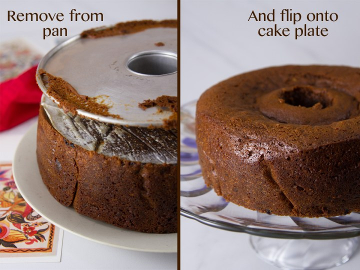 how to remove the cake from the pan