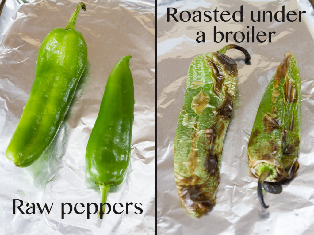 how to roast a chile pepper