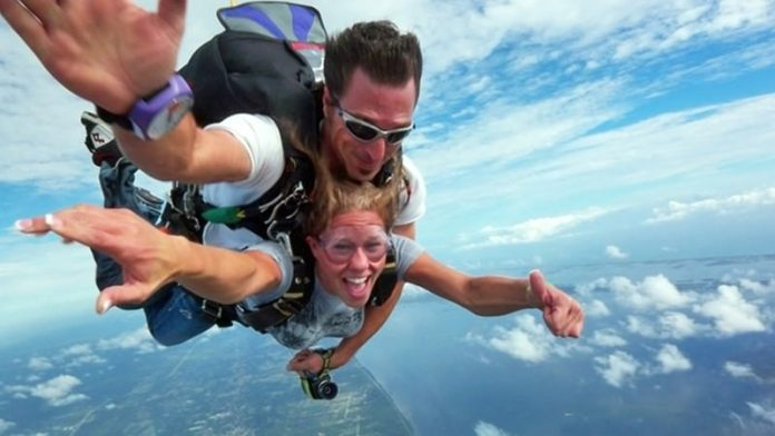 Skydiving in Orlando - Flying over Florida