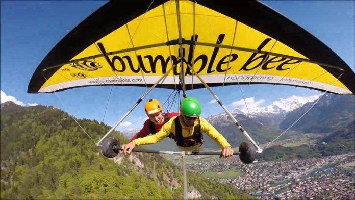 Hang Gliding in the Alps Interlaken, Switzerland