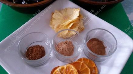 Pineapple, orange & spices