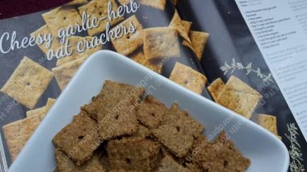 Delicious flaky cheesy crackers