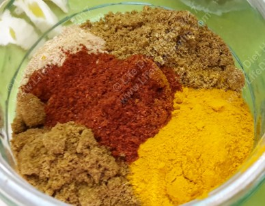 Don't be afraid of the powdered spices!