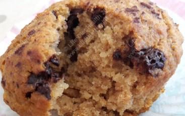 Chocolate banana bread muffin