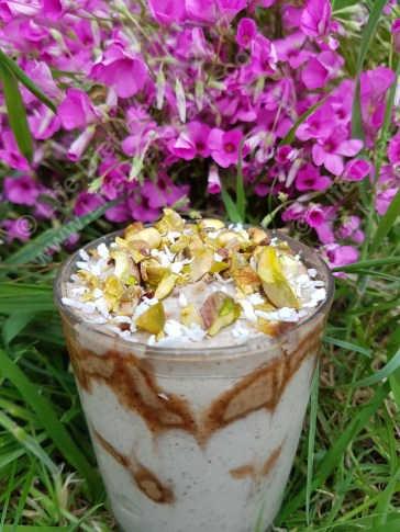 Coconut whip with almond butter