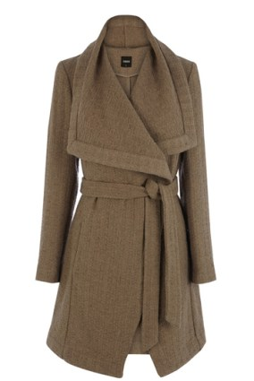 Textured Long Belt Coat £98 Oasis