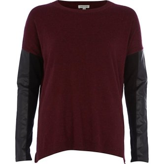 Leather Look Jumper, £32, River Island