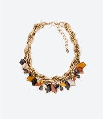 Rhinestone Necklace, £19.99, Zara