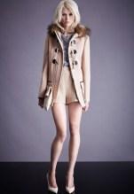 Camel faux fur duffel coat, £90