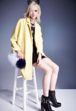 Yellow oversized coat, £80 Lace-up boots, £78