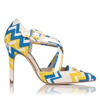 Monica Patent and Canvas Shoe £275