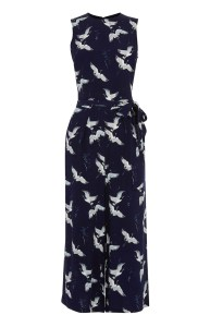 Bird Print Culotte Jumpsuit £65 Warehouse