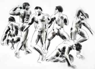 Drawing by Dave Huggard