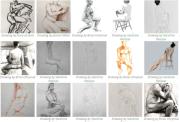 Repertoire of classical Life Drawing poses