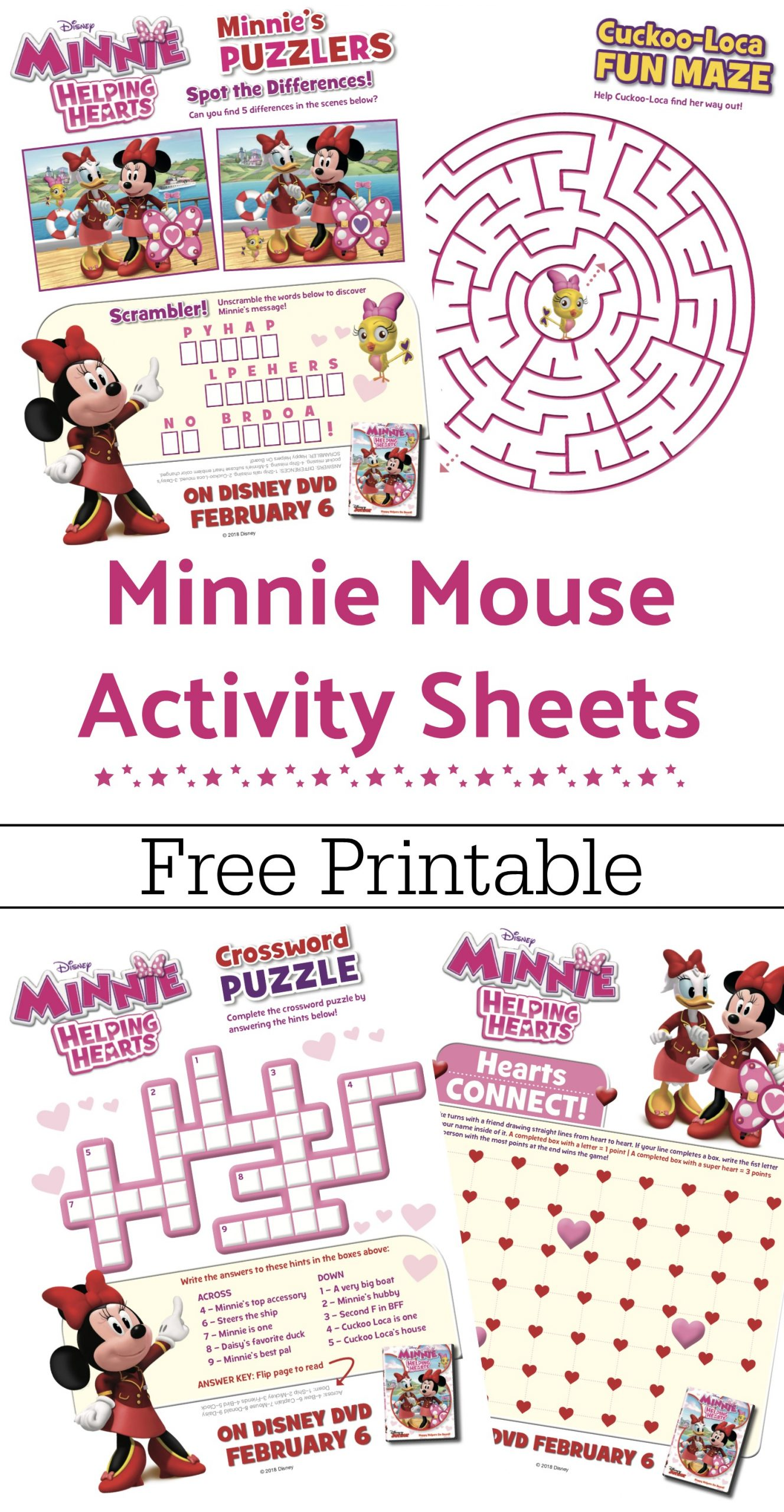 Free Printable Minnie Mouse Activity Sheets Minnie
