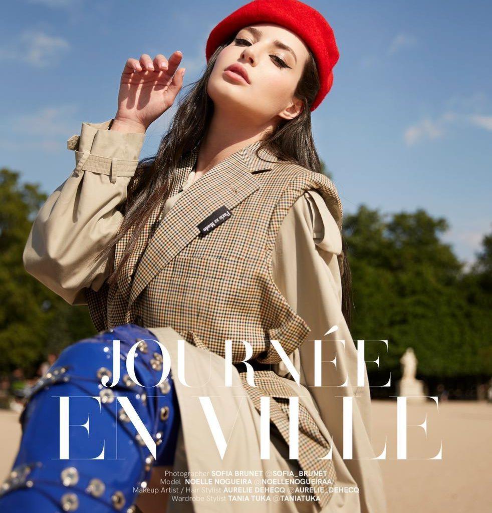 Noelle Nogueira é capa de revista francesa